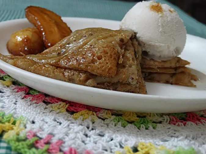 Gluten Free Black Rice Pudding with Vegan IceCream-1