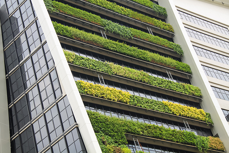 What is the relevance of vertical gardens in today's society